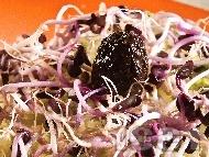 Рецепта Салата от тиквички, зеле, кълнове и ряпа